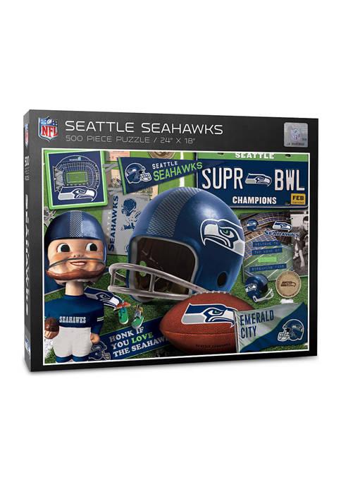 Seattle Seahawks Retro Series Puzzle - 500 Pieces