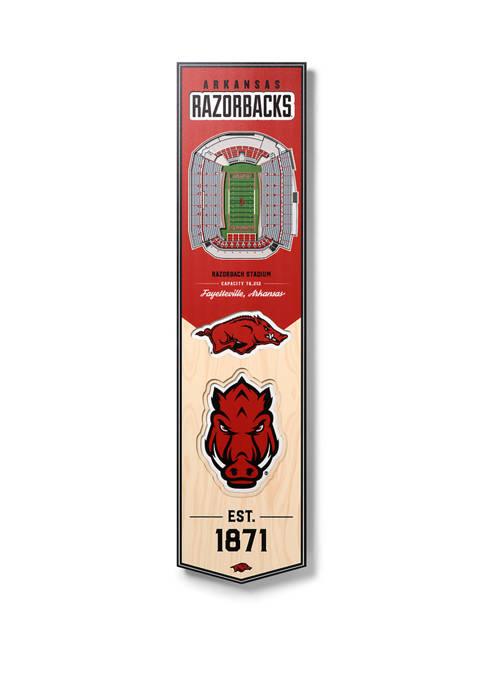 NCAA Arkansas Razorbacks  3D Stadium Banner-8x32