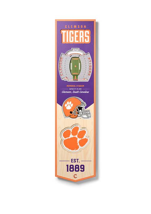 NCAA Clemson Tigers  3D Stadium Banner-8x32