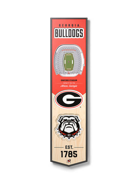 NCAA Georgia Bulldogs  3D Stadium Banner-8x32