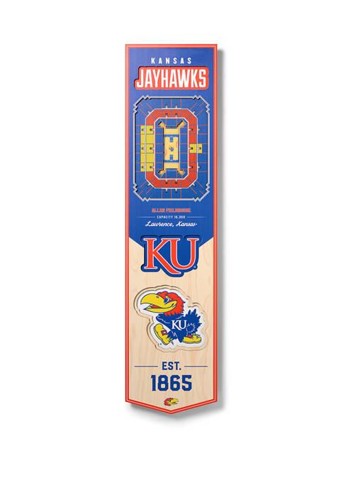 NCAA Kansas Jayhawks  3D Stadium Banner-8x32