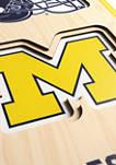 NCAA Michigan Wolverines 3D Stadium Banner-8x32
