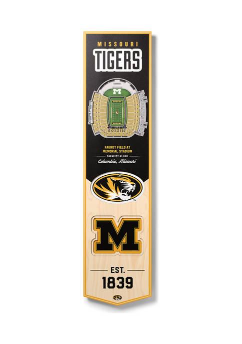 NCAA Missouri Tigers  3D Stadium Banner-8x32