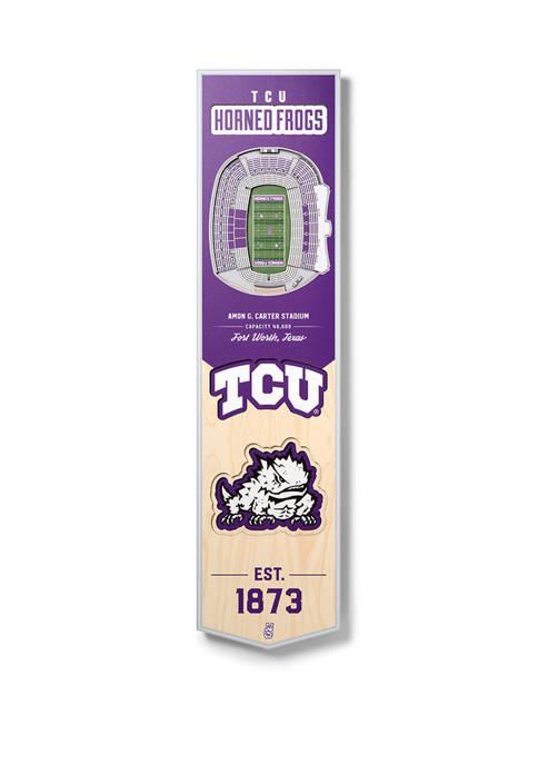 NCAA TCU Horned Frogs  3D Stadium Banner-8x32