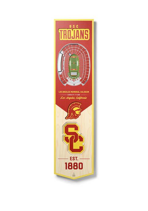 NCAA USC Trojans  3D Stadium Banner-8x32