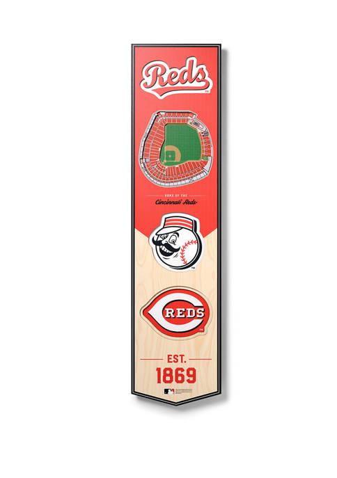 MLB Cincinnati Reds  3D Stadium Banner-8x32