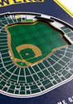 MLB Milwaukee Brewers  3D Stadium Banner-8x32