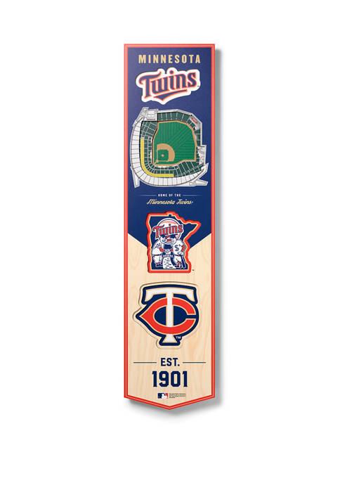 MLB Minnesota Twins  3D Stadium Banner-8x32