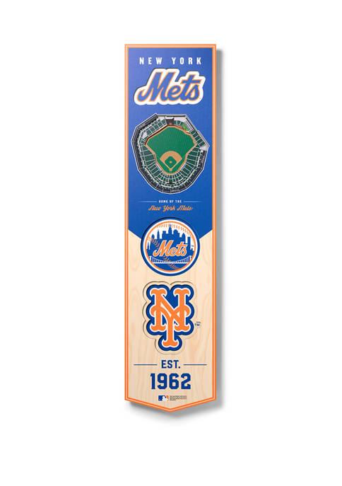 MLB New York Mets  3D Stadium Banner-8x32