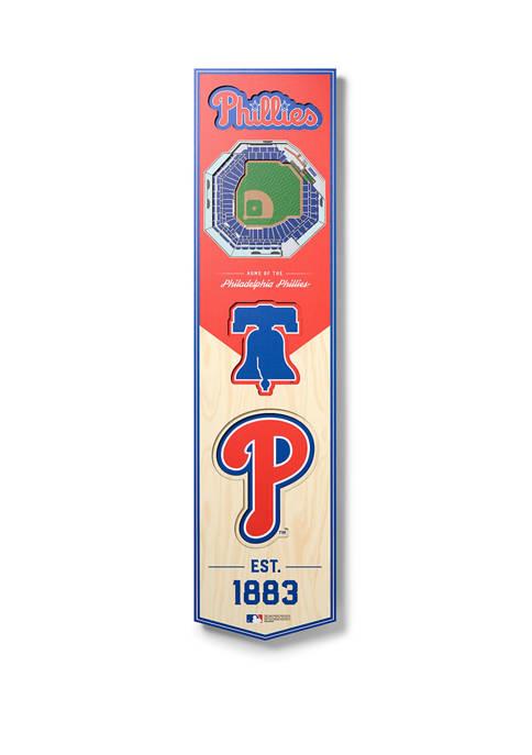 MLB Philadelphia Phillies  3D Stadium Banner-8x32