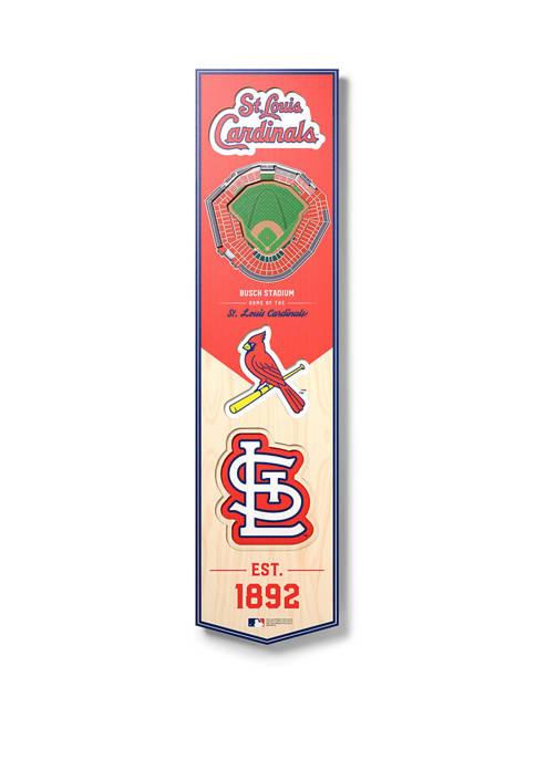 MLB St. Louis Cardinals  3D Stadium Banner-8x32