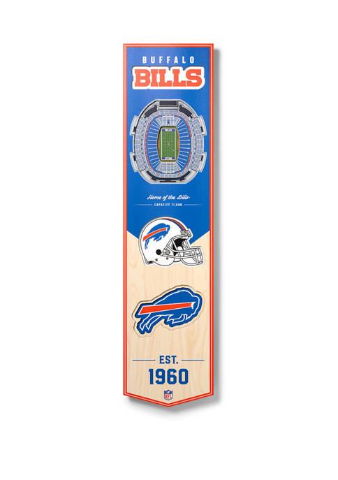 NFL Buffalo Bills  3D Stadium Banner-8x32
