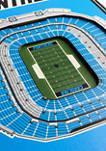 NFL Carolina Panthers  3D Stadium Banner-8x32