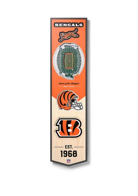NFL Cincinnati Bengals  3D Stadium Banner-8x32