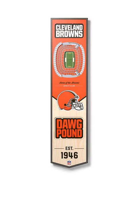 NFL Cleveland Browns  3D Stadium Banner-8x32