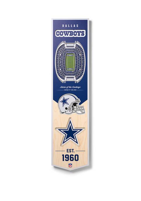 NFL Dallas Cowboys  3D Stadium Banner-8x32