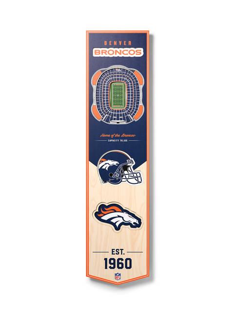 NFL Denver Broncos  3D Stadium Banner-8x32