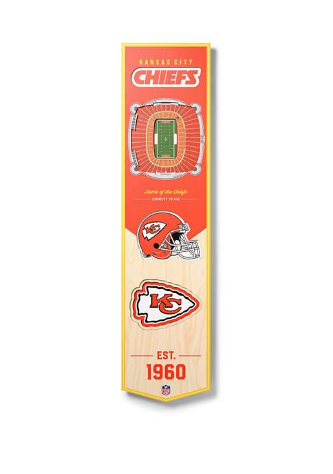 NFL Kansas City Chiefs  3D Stadium Banner-8x32