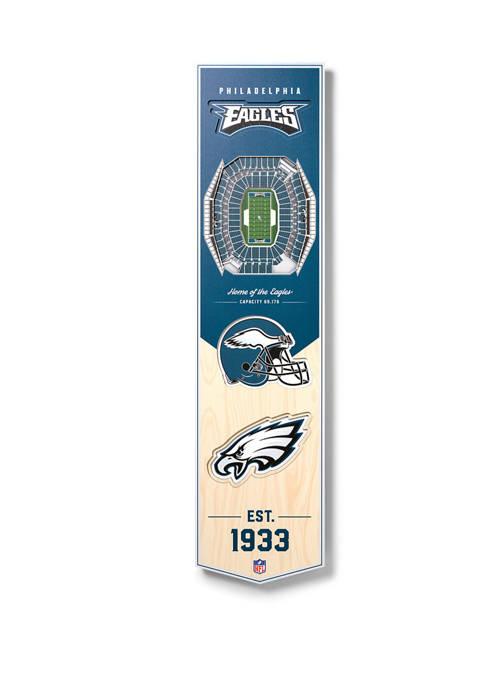 NFL Philadelphia Eagles  3D Stadium Banner-8x32