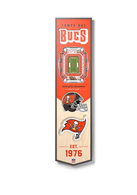 NFL Tampa Bay Buccaneers  3D Stadium Banner-8x32