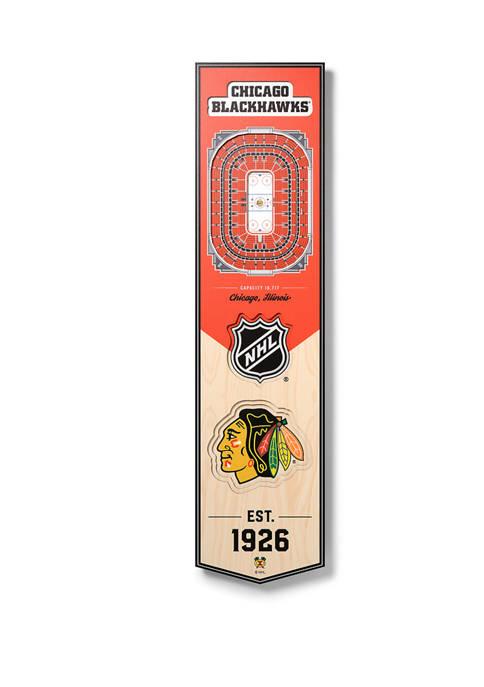 NHL Chicago Blackhawks 3D Stadium Banner-United Center