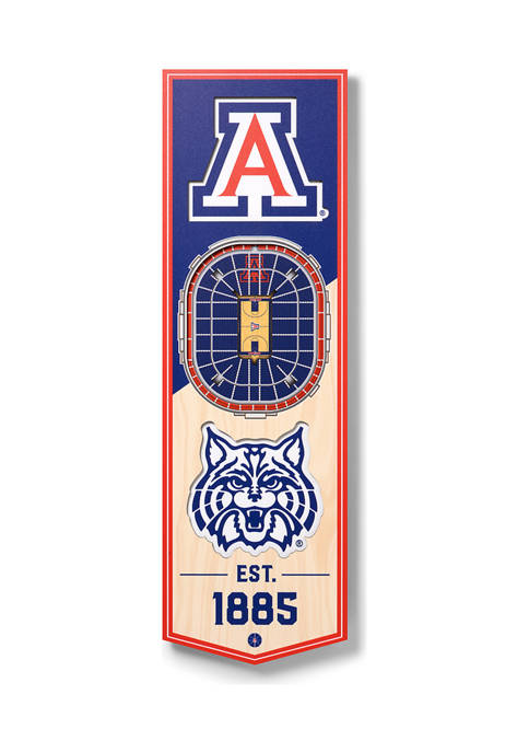 NCAA Arizona Wildcats 3D Stadium Banner-6x19