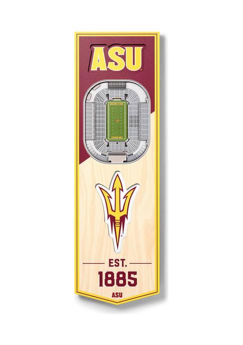 NCAA Arizona State Sun Devils 3D Stadium Banner-6x19