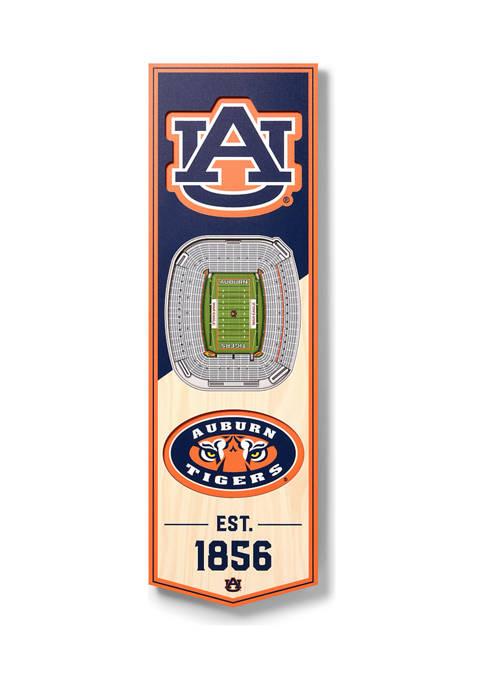 NCAA Auburn Tigers 3D Stadium Banner-6x19