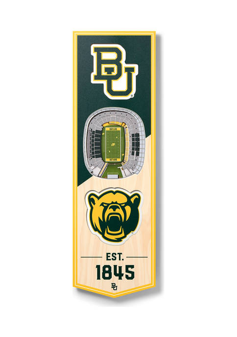 NCAA Baylor Bears 3D Stadium Banner-6x19