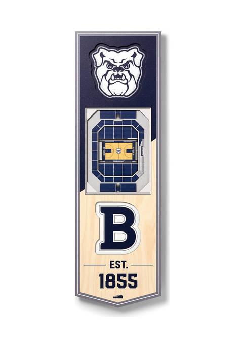 NCAA Butler Bulldogs 3D Stadium Banner-6x19
