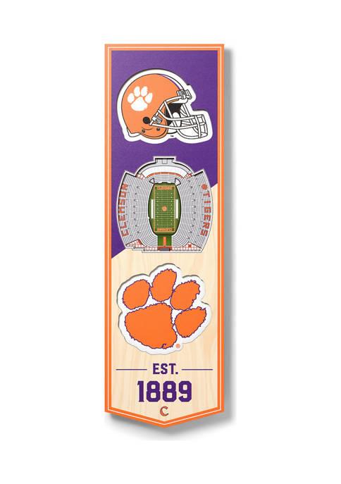 NCAA Clemson Tigers 3D Stadium Banner-6x19