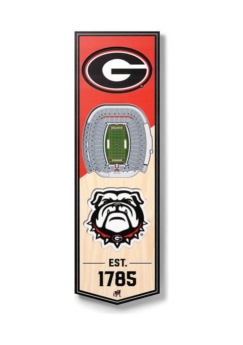 NCAA Georgia Bulldogs 3D Stadium Banner-6x19