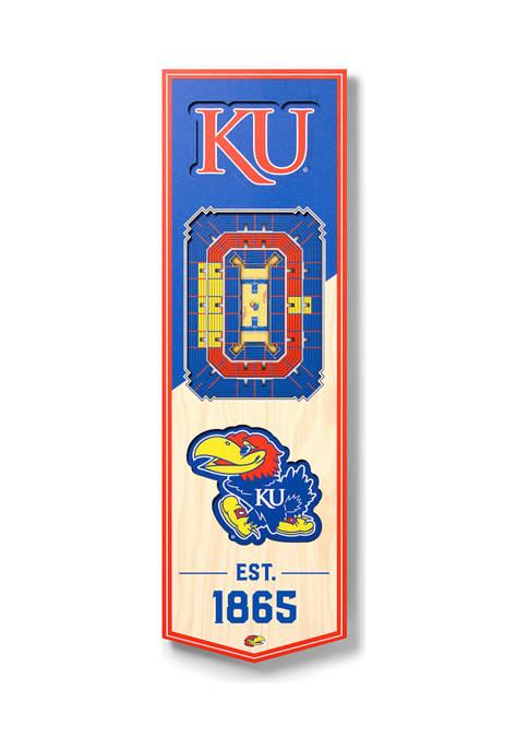 NCAA Kansas Jayhawks 3D Stadium Banner-6x19