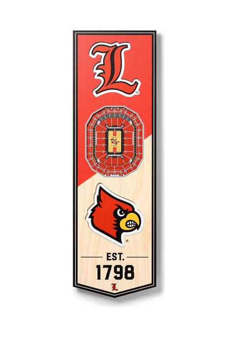 NCAA Louisville Cardinals 3D Stadium Banner-6x19