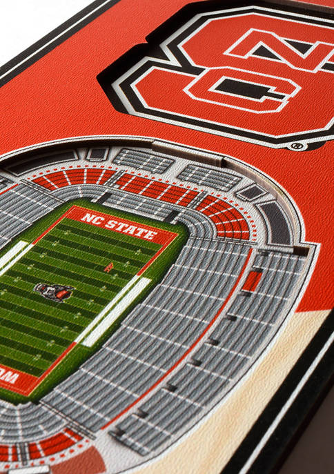 NCAA NC State Wolfpack 3D Stadium Banner-6x19