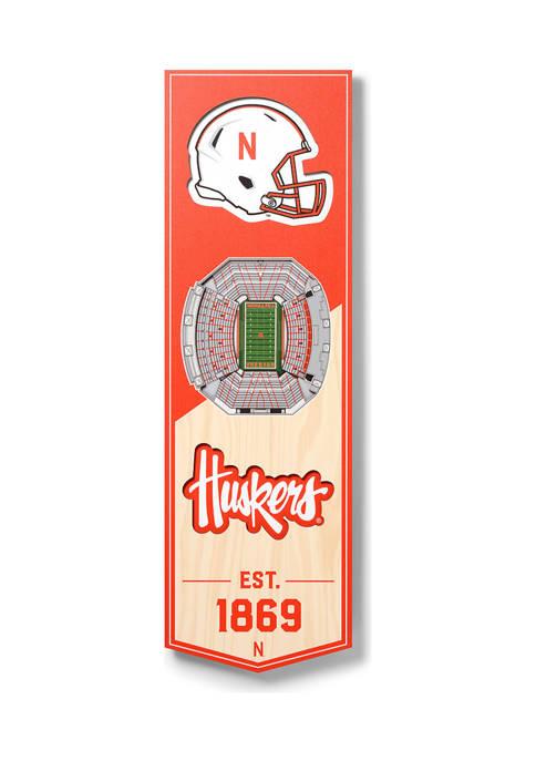 NCAA Nebraska Cornhuskers 3D Stadium Banner-6x19
