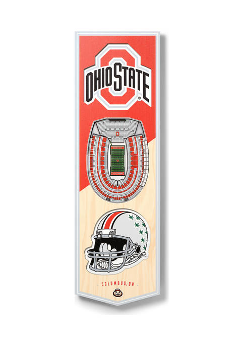 NCAA Ohio State Buckeyes 3D Stadium Banner-6x19