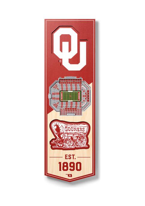 NCAA Oklahoma Sooners 3D Stadium Banner-6x19