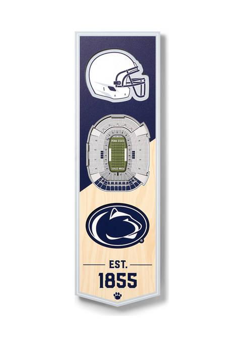 NCAA Penn State Nittany Lions 3D Stadium Banner-6x19