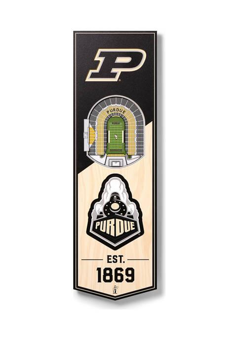 NCAA Purdue Boilermakers FB 3D Stadium Banner-6x19