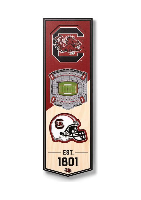 NCAA South Carolina Gamecocks 3D Stadium Banner-6x19