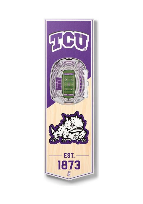 NCAA TCU Horned Frogs 3D Stadium Banner-6x19