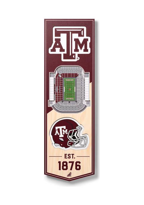 NCAA Texas A&M Aggies 3D Stadium Banner-6x19