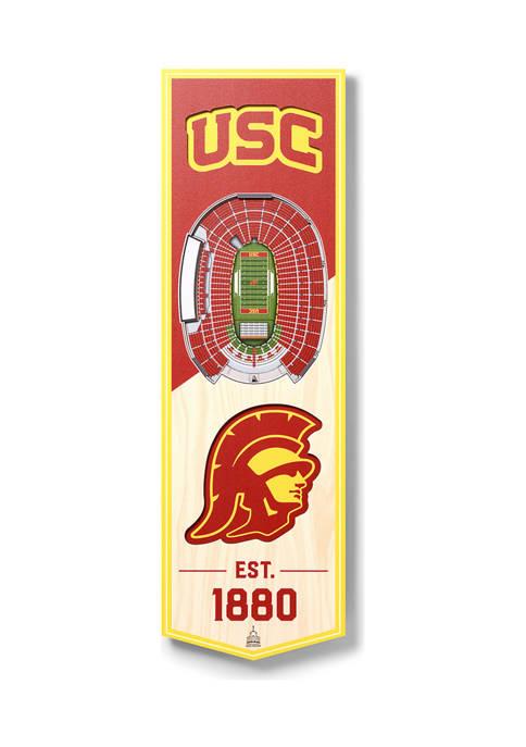 NCAA USC Trojans 3D Stadium Banner-6x19