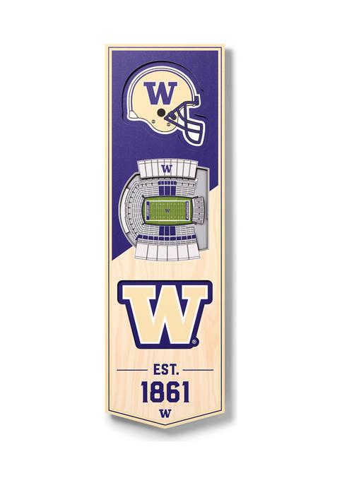 NCAA Washington Huskies 3D Stadium Banner-6x19