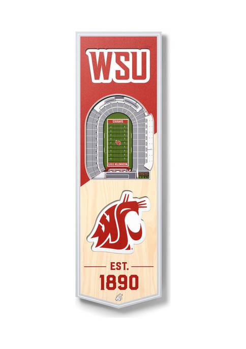 NCAA Washington State Cougars 3D Stadium Banner-6x19