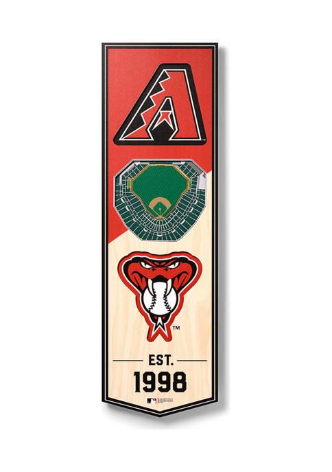 MLB Arizona Diamondbacks 3D Stadium Banner-6x19