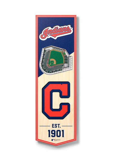 MLB Cleveland Indians 3D Stadium Banner-6x19
