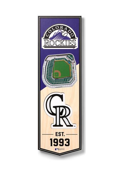 MLB Colorado Rockies 3D Stadium Banner-6x19