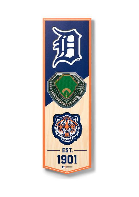 MLB Detroit Tigers 3D Stadium Banner-6x19